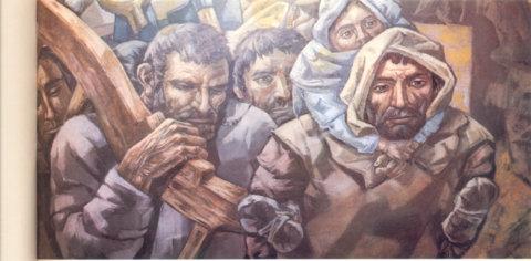 FORAMONTANOS (Mural De VELA ZANETTI en el Arco de Santa María, de Burgos)