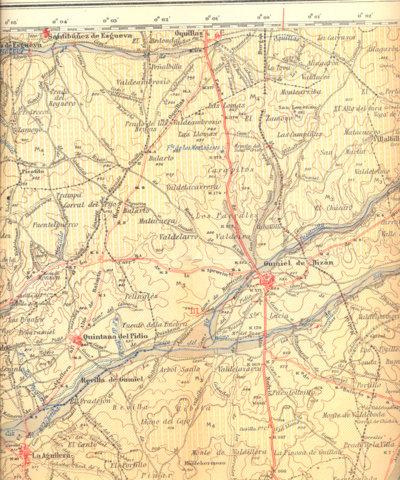 Detalle del mapa del Instituto Geológico y Minero de España.