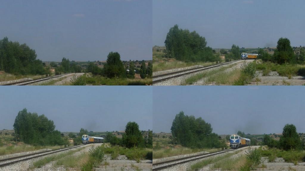 El tren llega a Gumiel a las 17.40 del 26-07-2014