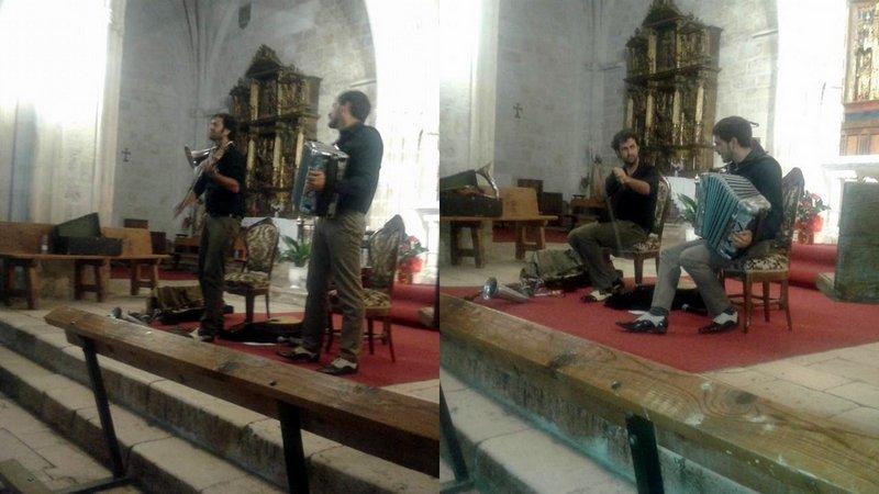 Fetén Fetén en la iglesia de Gumiel