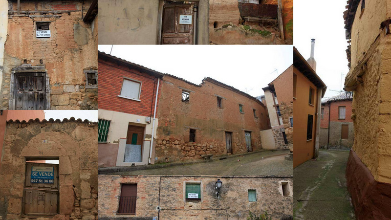 Collage de casas que se venden