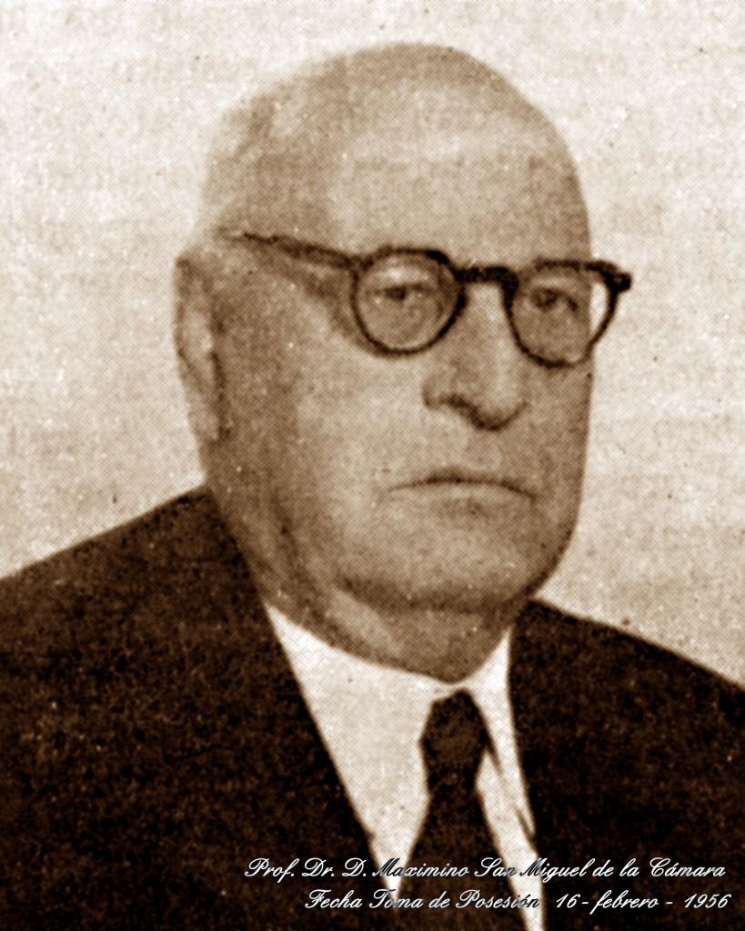 Don Maximino San Miguel de la Cámara (archivo de la Real Academia de Medicina)