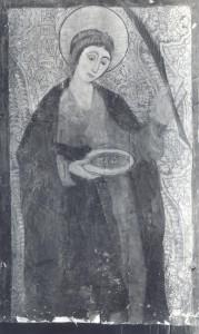 Santa Lucía blanco y negro