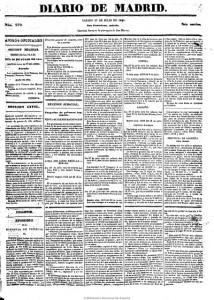 Página del Diario de Madrid