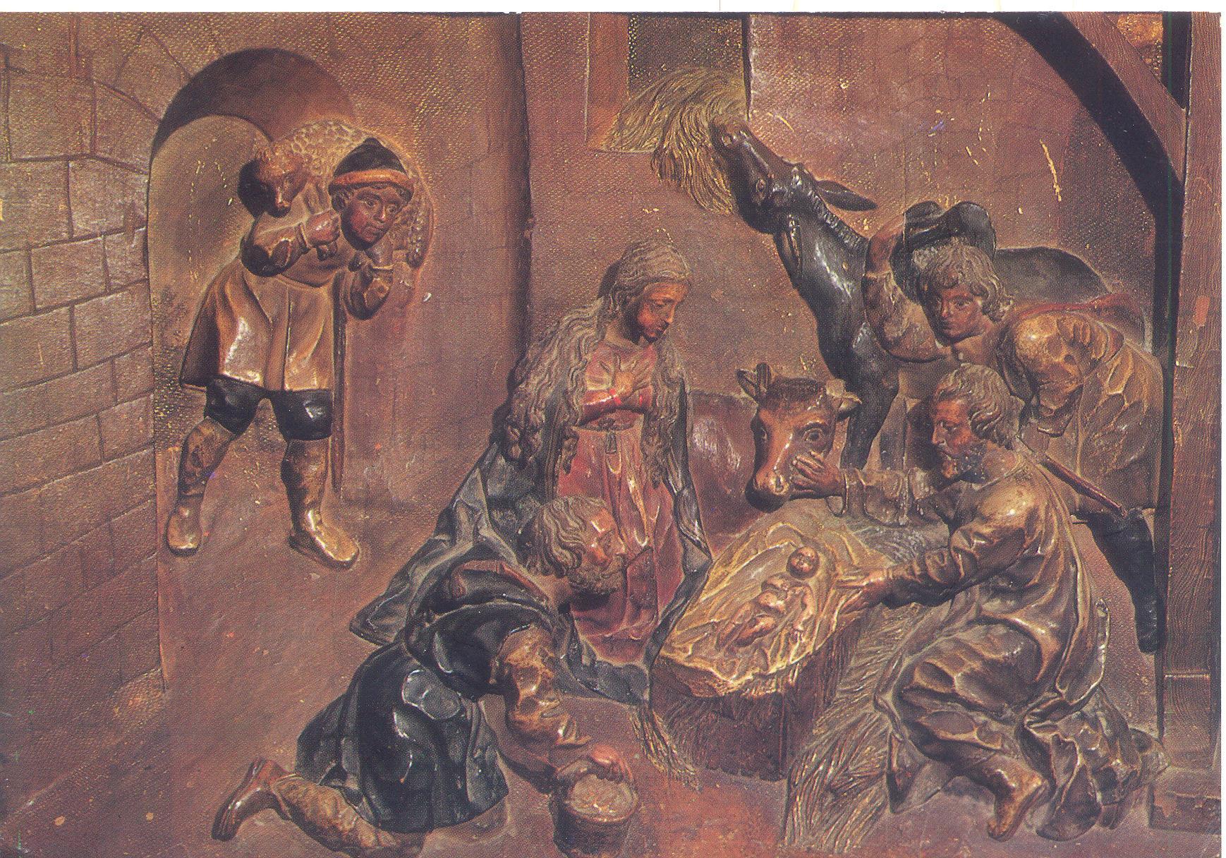 Adoración de los pastores en el portal de Belén