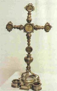 cruz relicario esmaltada