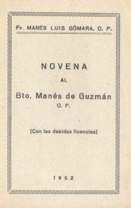 pprtada de la novena del beato Manés de Guzmán