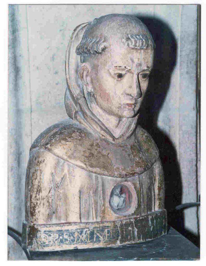 busto relicario del beato Manés