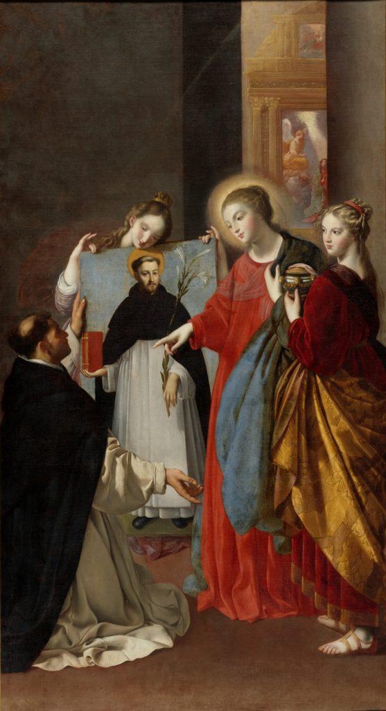 Santo Domingo en Soriano en el Museo del Prado, descripción en el textodorPadmu