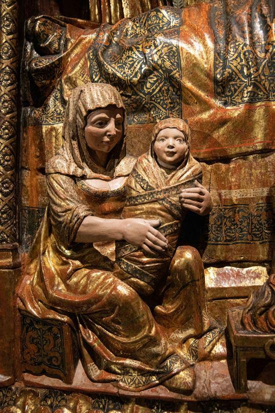 La Virgen en brazos de su nodriza